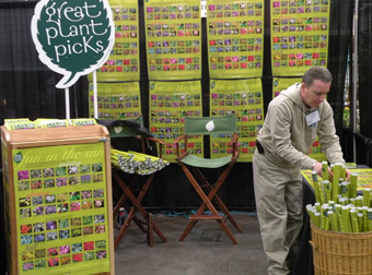 Rick Peterson at the Great Plant Picks booth