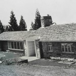 The newly built house, about 1949