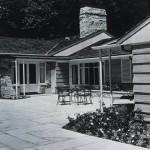 Library terrace, circa 1949